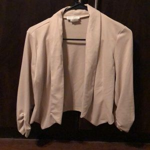 Cream crop jacket